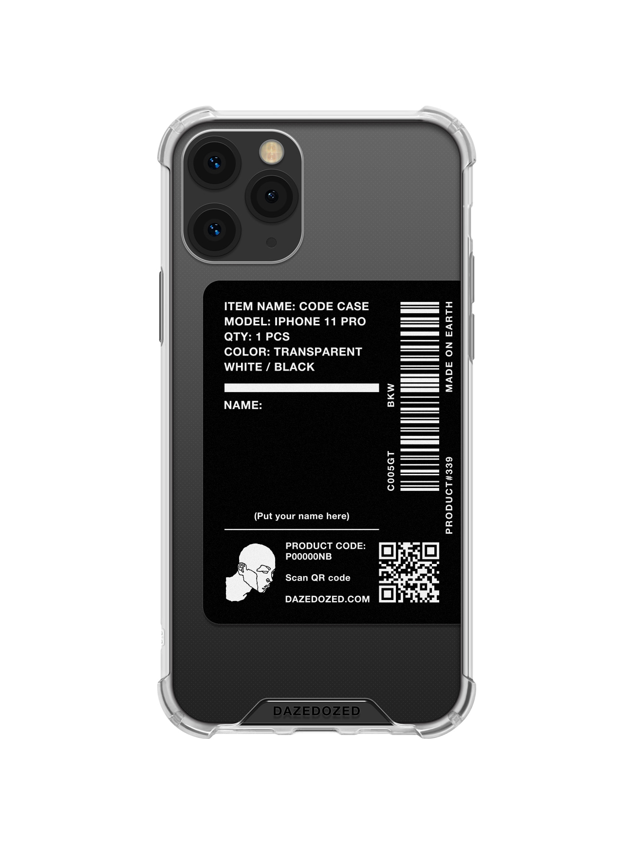 Code Phone Case, Black