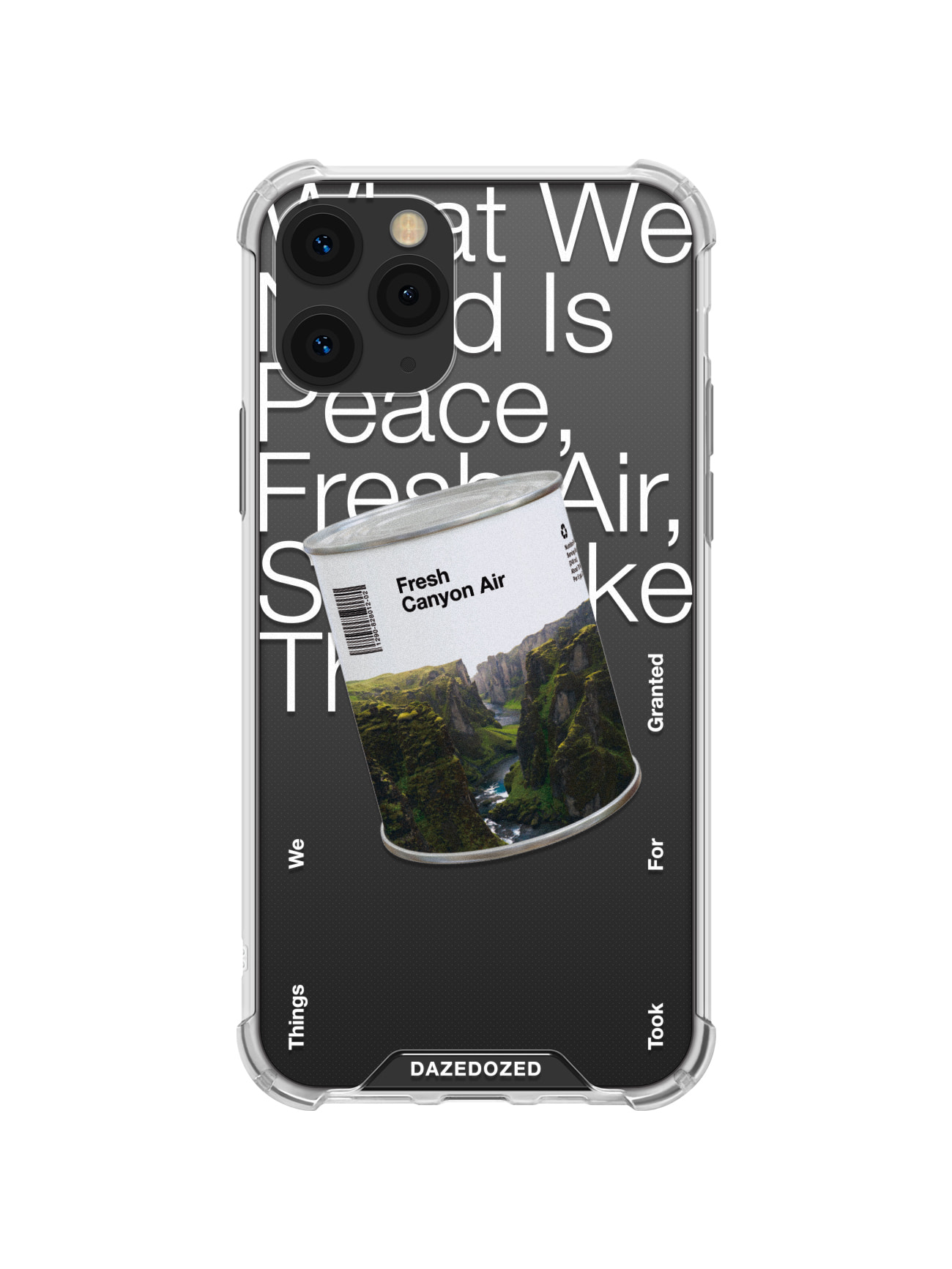 Fresh Canyon Air Phone Case, White Font