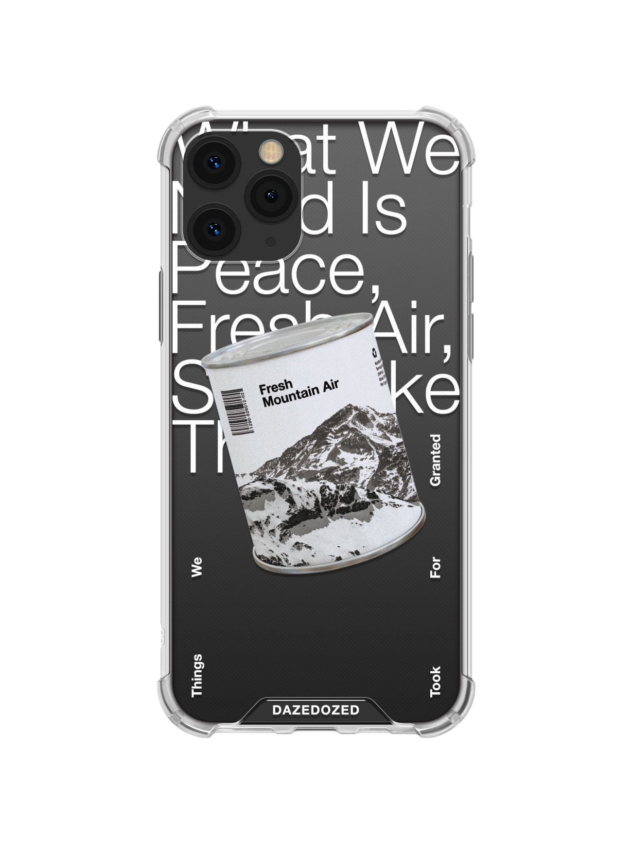 Fresh Mountain Air Phone Case, White Font