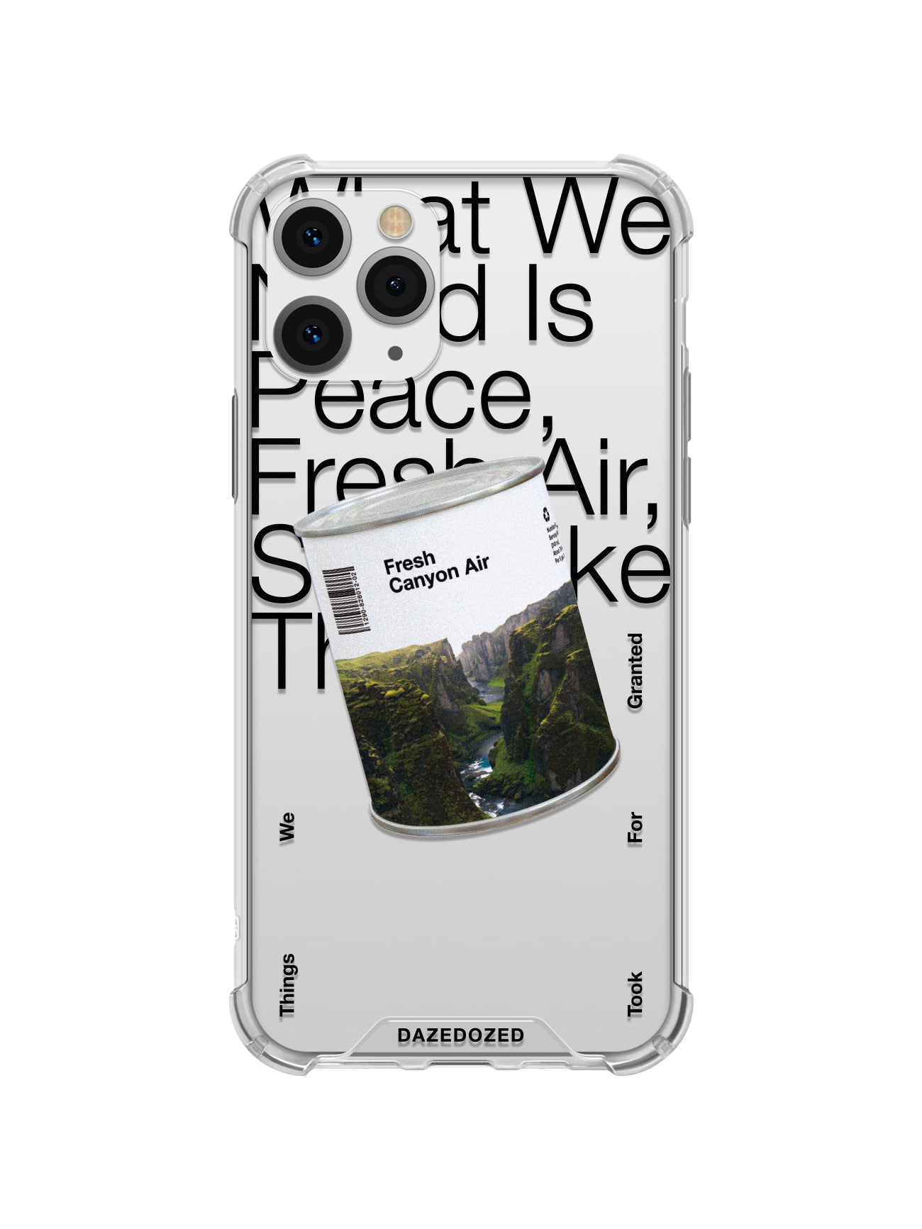 Fresh Canyon Air Phone Case, Black Font